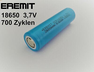 EREMIT Li-Ion LiIon NMC INR-18650 Akku 2600mAh 3C Lithium Ion Batterie 3.7V 53 - 18650 Lithium-batterie
