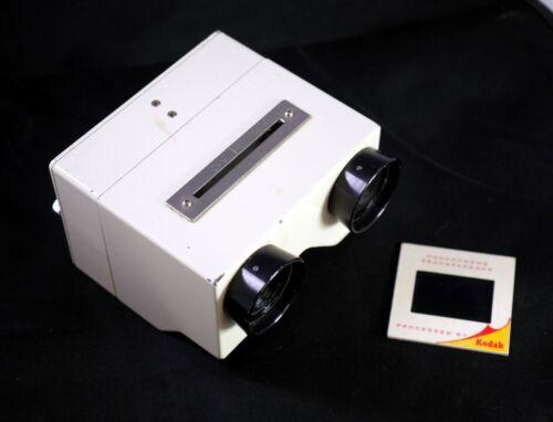 3D Stereo Viewer for Beamsplitter slides Made in JAPAN Medical all metal - DT