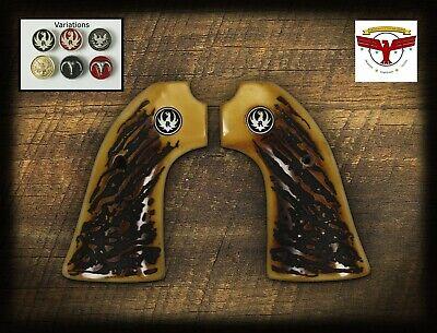 RUGER BISLEY MAGNA-TUSK™ AGED STAG GRIPS ~ BISLEY SINGLE ACTION REVOLVER Ruger Single Action Revolvers