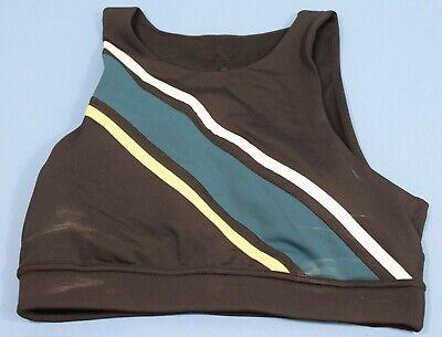 Mesh Back Sports Bra (Zella Mesh Back Front Stripe Sports Bra Size Medium)