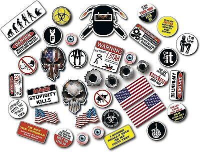 39 Funny Hard Hat Helmet Sticker Construction Welder Toolbox Electrician Union