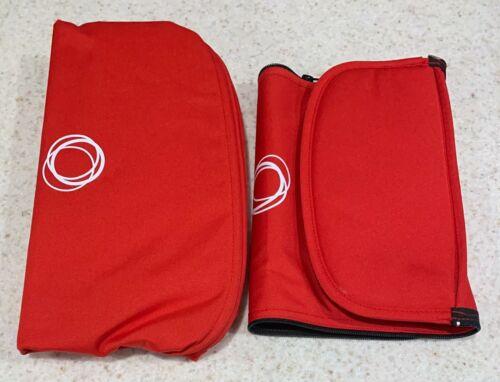 Bugaboo Buffalo Tailored Fabric Set Extendable RED Extendable Sun Canopy, Apron