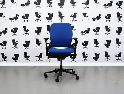 Refurbished Steelcase Leap V2 Chair - Scuba Blue - Yp082