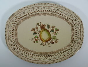 Johnson Bros Old Granite Fruit Sampler Serving Plate Platter
