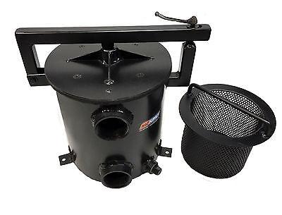 """2 Gal Steel Sealcoat Filter Pot Assembly, 2"""" Plumbed, Strainer Basket"""