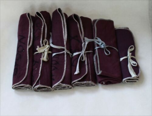 The Emporium Sterling Silver Flatware Roll Up Storage Bags - Lot of 6