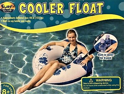 Head Float - *NEW* Pool Float With Head Rest & Built-In 6 Pack Cooler & Cup Holder -48