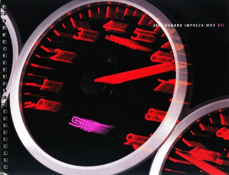 2004 Subaru Impreza WRX STi Prestige Deluxe Spiral Bound Dealer Sales Brochure