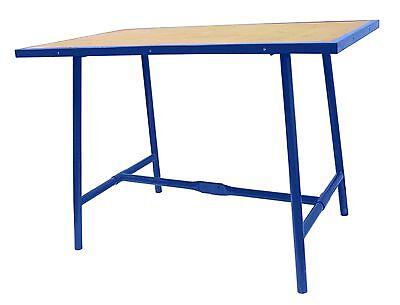 Mobile Werkbank Tisch (HAUCK Klappwerkbank Werktisch klappbar Werkbank mobil 1000x700x30 mm blau Profi)