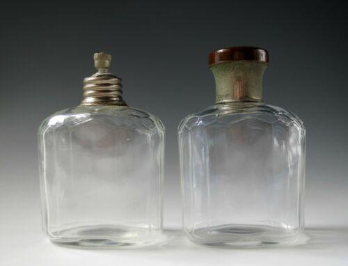 Set of 2 Antique Travel Bottles Cork Germany Vintage