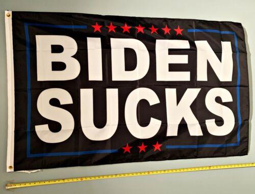 DONALD TRUMP FLAG *FREE SHIP USA SELLER! Biden Sucks Don Jr 2024 USA Sign 3x5