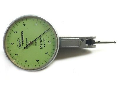 Mahr Federal 801sl Martest Antimagnetic Dial Test Indicator .010 Range .0005