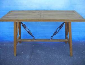 New Rustic Reclaimed Timber Industrial Metal Console Hall Tables Melbourne CBD Melbourne City Preview