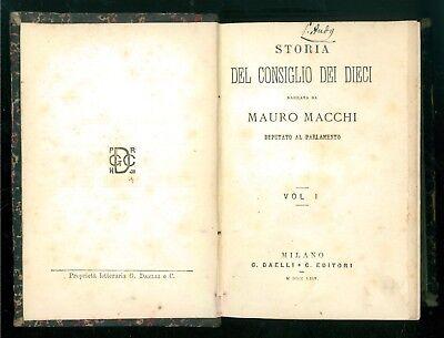 MACCHI MAURO STORIA DEL CONSIGLIO DEI DIECI DAELLI 1864 9 VOLUMI VENEZIA VENETO