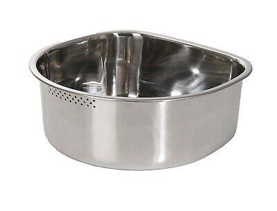 Kitchen Flower Stainless Steel Basin Dishpan Dish Washing Bowl Sink Basket (D)