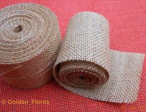 Natural Jute Hessian Burlap Ribbon Rustic Weddings Belting Strap Craft Floristry