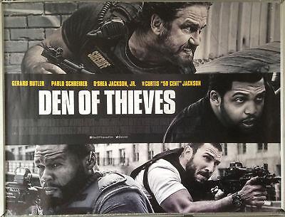 Cinema Poster: DEN OF THIEVES 2018 (Quad) Gerard Butler O'Shea Jackson