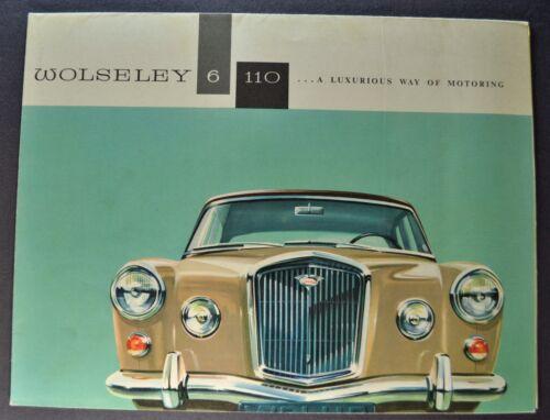 1962-1963 Wolseley 6/110 Sales Brochure Folder Excellent Original