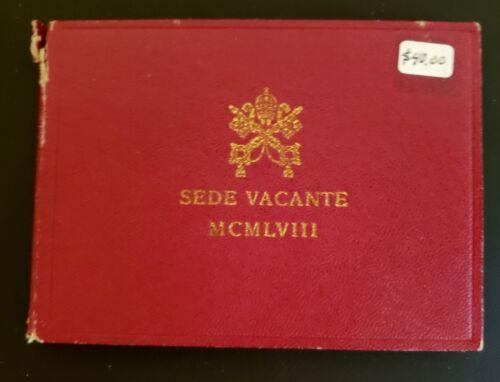 1958 Vatican City Sede Vacante Silver 500 Lire!  Pope Pius XII!  KM-57!