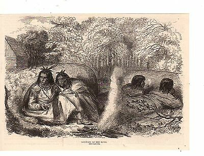 1870 Illustrated London News Native American Ojibway Indians Of The Red River