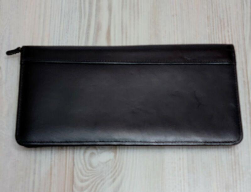 Vintage Coach Black Leather Zip Around Wallet Travel Wallet Unisex