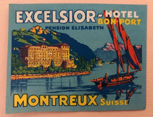 Luggage Label Hotel Excelsior Montreux - Switzerland