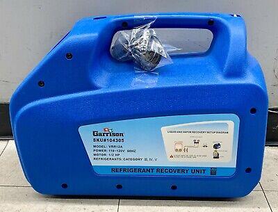 Garrison Sku104305 Model Vrr12a 110120v 60hz Refrigerant Recovery Unit