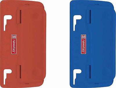 Locher Taschenlocher für Ordner blau und rot  Niederhalter