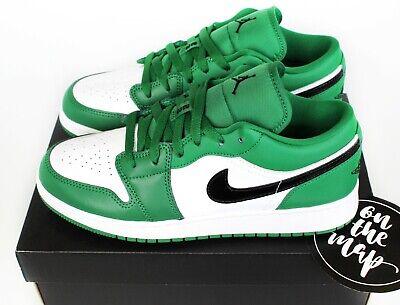 Nike Air Jordan 1 Retro Low Pine Green Black White UK 3 4 5 6 7 US New