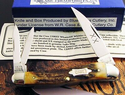 Case Classic Stag 530055 Wharncliff Whittler Knife 1994 Fine Matched Stag MIB NR