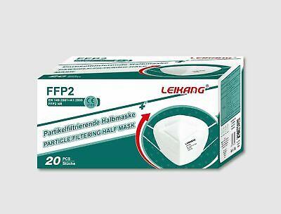 20x LEIKANG® FFP2 Maske mit CE Zertifikation 2163 Einzelbeutel 20 Stück/Box