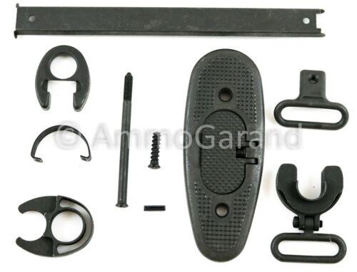 M1 Garand Butt Plate & Stock Metal Parts Set W/ Lower Band & Hand Guard Metal