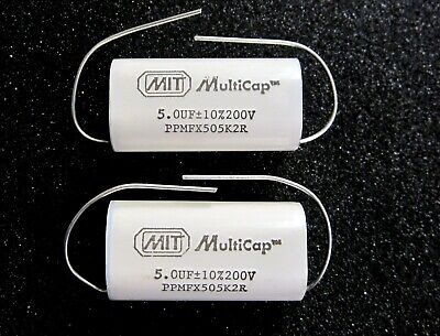 Mit Multicap 5.0uf 200v Ppmfx Series Audiophile Capacitors - One Pair
