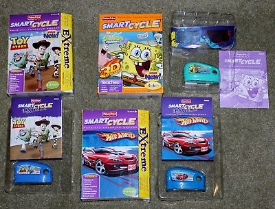 Photo 3 Fisher Price Smart Cycle Game Cartridges ~ Hot Wheels, Sponge Bob & Toy Story