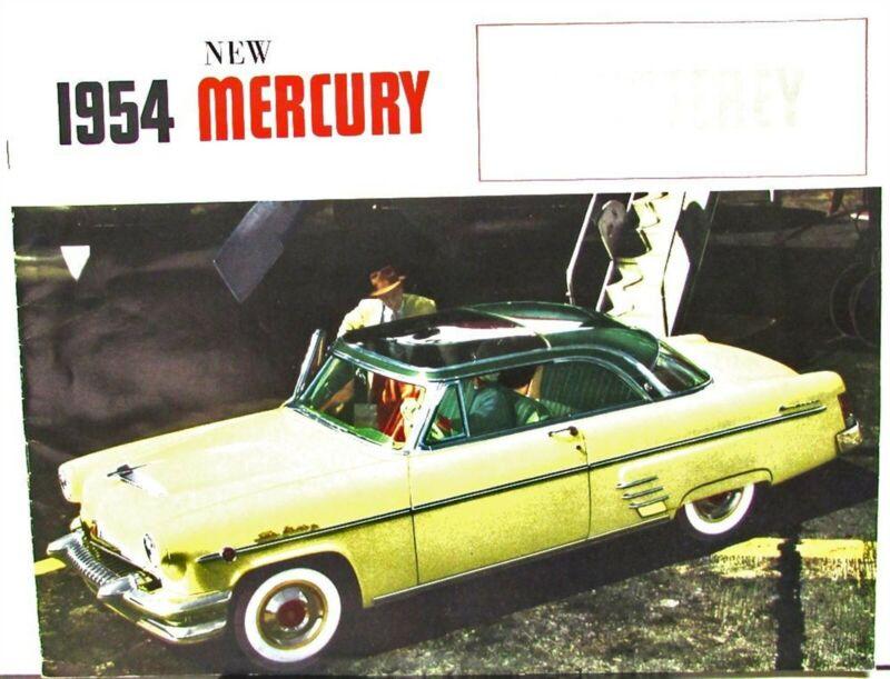 1954 Mercury Custom Monterey Sky View Vision Convertible Canadian Sales Brochure