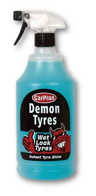 CarPlan Demon Tyres Wet Look Tyres Instant Tire Shine Dressing Spary 1 Litre ()