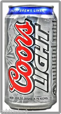 Coors Light Beer Can Refrigerator / Tool Box Magnet Man Cave Item