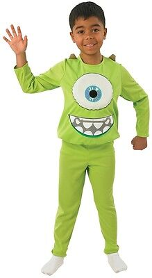 Jungen Monsters Inc Deluxe Mike Grün Monster Halloween Kostüm Kleid Outfit