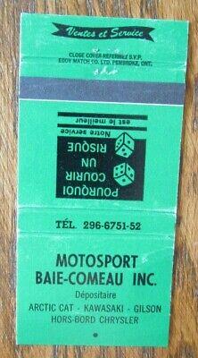 MOTORCYCLE DEALER: MOTOSPORT BAIE-COMEAU (ARCTIC CAT KAWASAKI) -G15