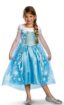Princess Elsa Costume Dress XSmall 3T-4T Snow Queen Deluxe Disney Frozen Tiara