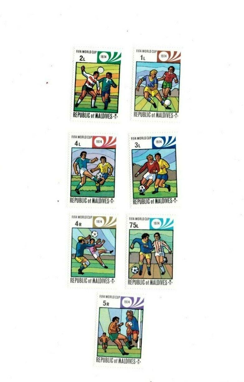 VINTAGE CLASSICS - MALDIVES SC 516-22 Munich World Cup Set Of 7 - MNH - $0.89