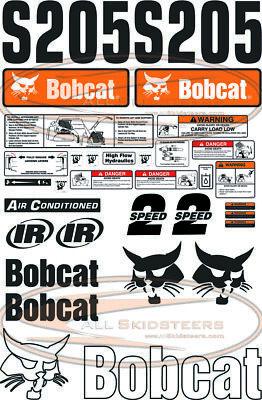 30pcs Bobcat S205 Out Side Decal Sticker Kit New Style Skid Steer Loader Number