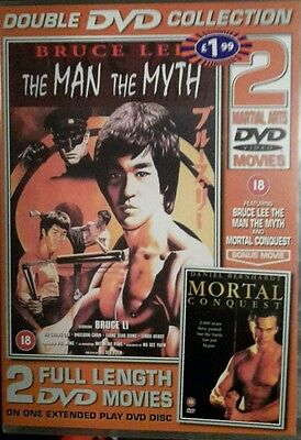 Bruce Lee : The Man and the Myth/Mortal Conquest (DVD,2002) Brand New