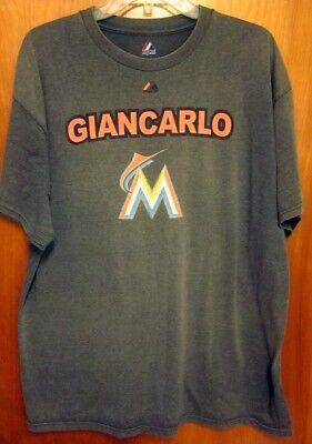 628fce77053 MIAMI MARLINS Giancarlo Stanton outfielder T shirt XL baseball tee  27 home  runs