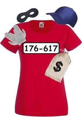 Panzerknacker Kostüm für Fans Damen T-Shirt Karneval Gruppen Paarkostüm Fasching