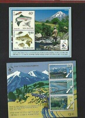 New Zealand sc#1444a, 1450a (1997) Souvenir Sheets MNH