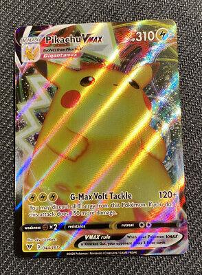 Pikachu V Max Holo Rare Full Art 044/185 Vivid Voltage 2020 Mint Fresh Pull