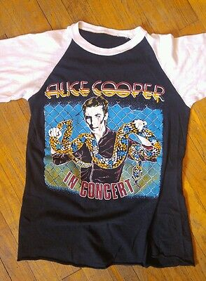 Vintage 1981 Alice Cooper Tour Raglan T Shirt Size Small