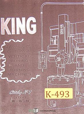 King 30 36 46 50 100 Vertical Boring Mill Operations Diagram Manual