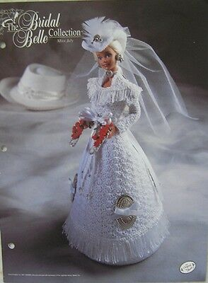 Annie Attic Bridal Belle Collection Miss July Crochet Fashion Bed Doll Pattern
